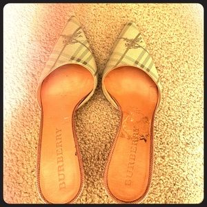 Burberry Mules with Kitten Heels, Women's Size 6.5